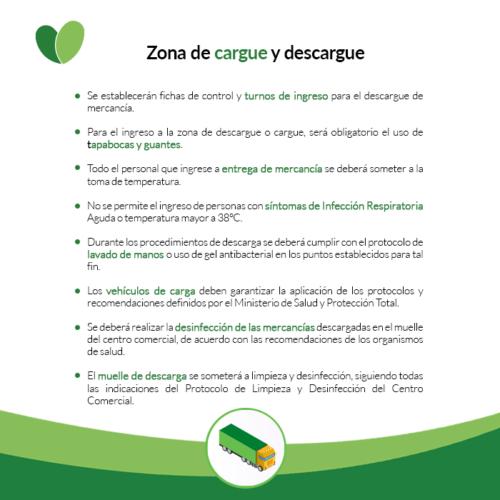 MEDIDAS ZONA DE CARGUE Y DESCARGUE