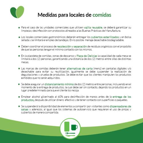 MEDIDAS ZONAS LOCALES COMIDA