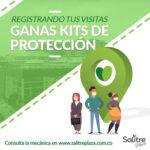 Registrando tus visitas ganas kits de protección